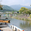 From Arashiyama towards Mt Atago.