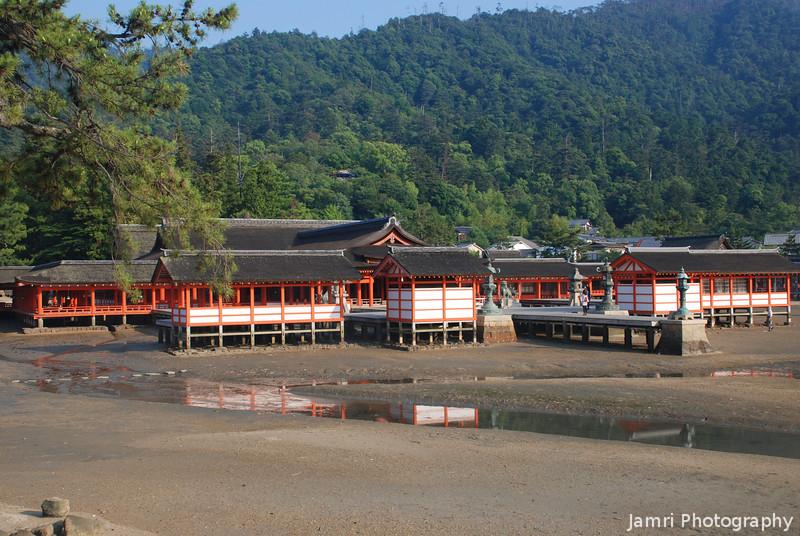 At Low Tide.<br /> Itsukushima shine in Miyajima, Hiroshima.