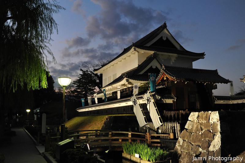 Shoryuji-jo in the early evening.