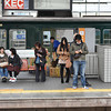 Waiting on the Platform.<br /> At Keihan's Hirakata-shi Station.