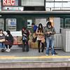 Waiting on the Platform.<br /> At Keihan's Hirakata-shi Station.