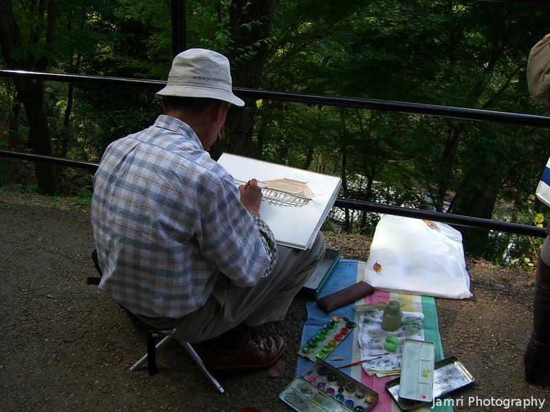 Artist at Work.<br /> At Kiyomizu-dera (Kiyomizu Temple) in Kyoto.