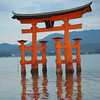 "The ""Floating"" Torii Floodlit."