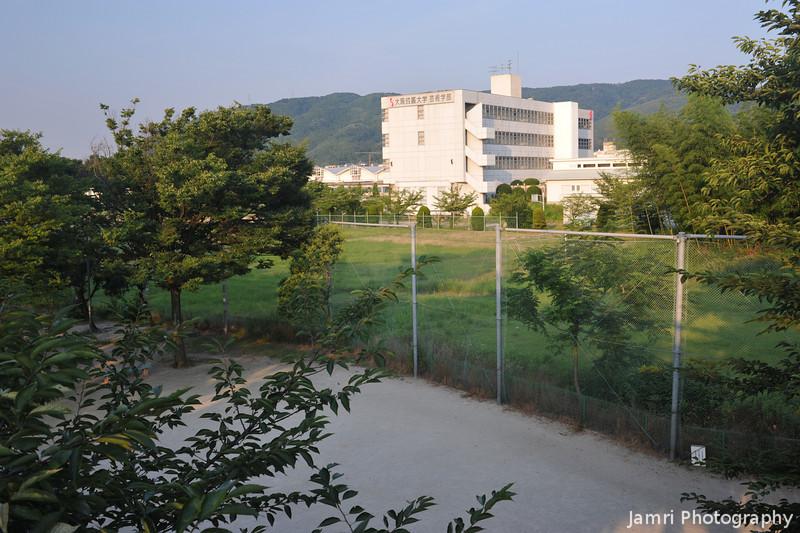 Seikei University Catching the Morning Light.<br /> Note: Circular Polarising Filter Used.