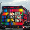 Colourful Pachiko and Slot Parlour.<br /> In Katata in Shiga Prefecture.