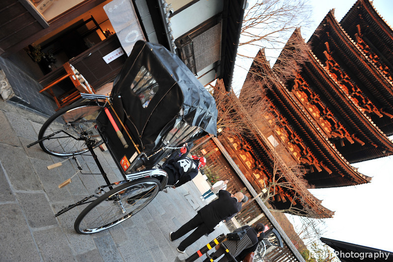 "Rickshaw and Pagoda in Golden Light. Note to people following my website, we're still in Japan, we're about 800km away from where the earthquake and tsunami hit. We are not experiencing any food shortages or power blackouts here in Kansai, so please don't worry for us. Please give to help the people in Tohoku through either <A href=""http://sidmrwfs637j.origin.bakusoku.jp/english/"">The Japanese Red Cross</A> or <A href=""http://www.crashjapan.com/"">CRASH Japan</A> (a church based relief organisation that is actually on the ground distributing supplies to those in need)."