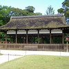 Open air building.<br /> One of the structures at Kamigamo Shrine.