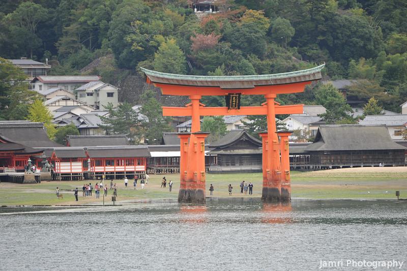 Towards the Big Torii.<br /> Miyajima Island, Hiroshima Prefecture.
