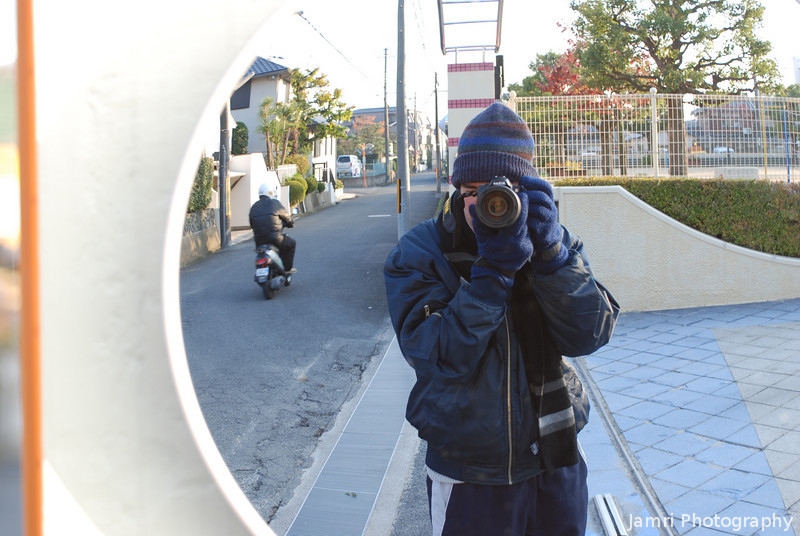 "Returning from a shoot. Took this self portrait on the way back from shooting <A href=""http://jamri.smugmug.com/Trains/Trains/"">trains</A>, just so you can get a taste of how cold it is here on a winters morning!"