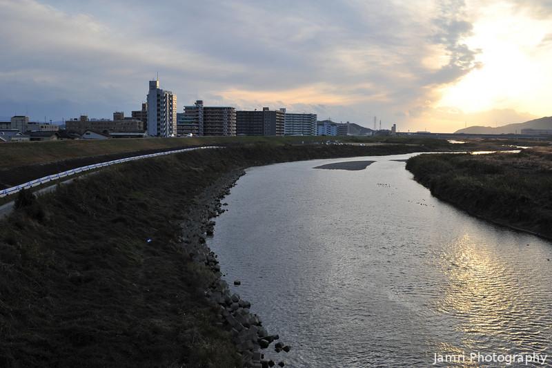 At the Katsura River.