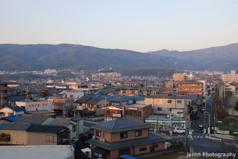 """Morning View to the West.<br /> Taken from on top of """"Fune Mansion"""" (an apartment block which looks like a ship, Fune is ship in Japanese)."""