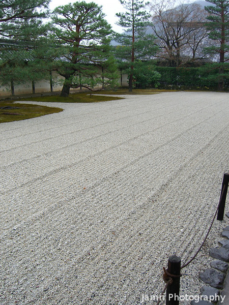 Rock Garden.<br /> At Tenryu-ji (a Zen Buddhist Temple) in Arashiyama, Kyoto.