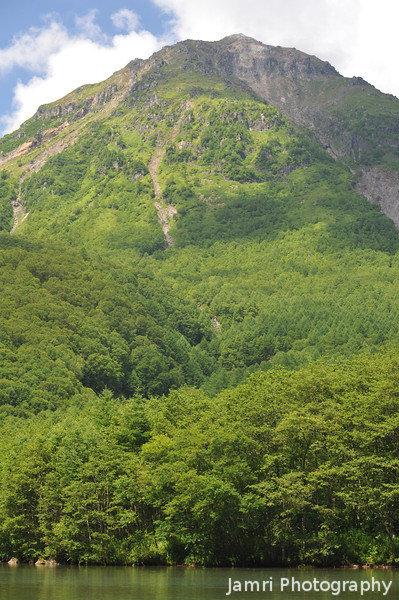 The first mountain.<br /> At Kamikochi National Park, Nagano Prefecture, Japan.