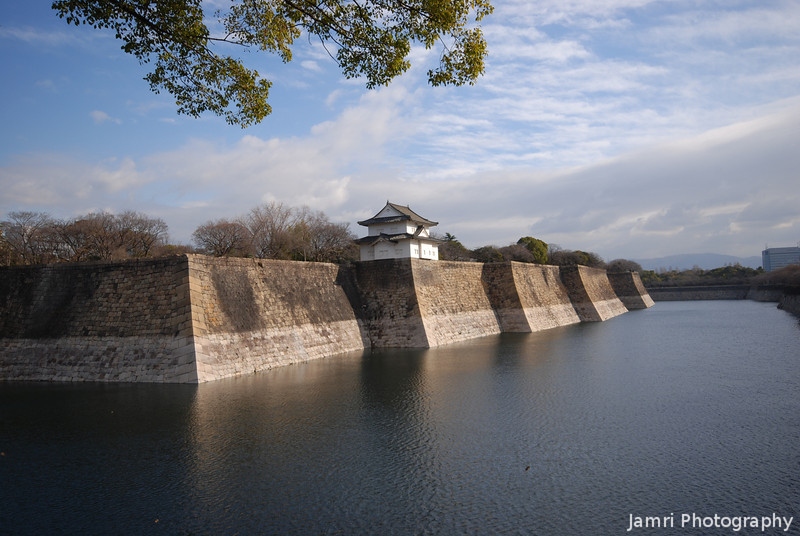 At the Moat.<br /> Of Osaka Castle.