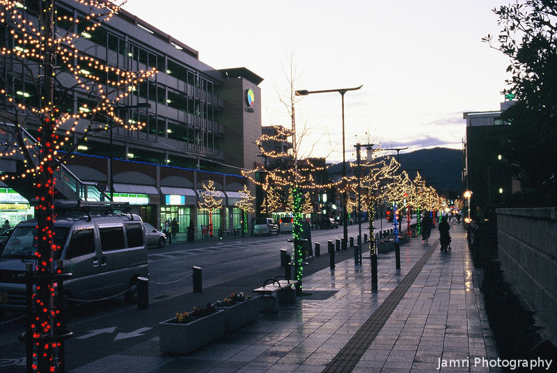 Christmas Light Up<br /> Some of the local Nagaokakyo city councils Christmas decorations.<br /> (Note: Film Shot, Nikon F80 + Nikkor AF 35f/2D + Fujichrome Provia 400X film)
