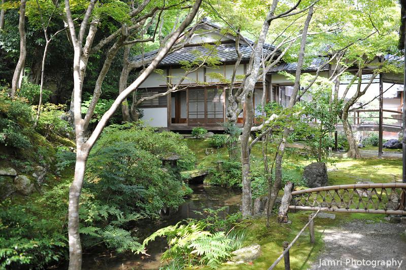 By the little Stream.<br /> At Jojakko-ji (a Buddhist Temple).