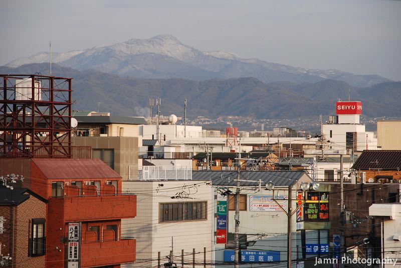 Mt Atago from Takenodai, Nagaokakyo.