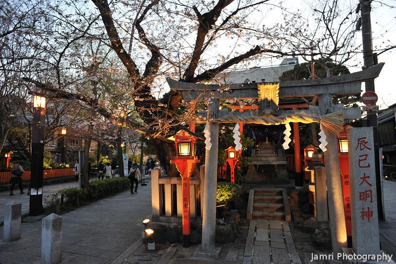 Tatsumi Shrine Again.<br /> This Shrine in Shirakawa minami dori, Gion, Kyoto. Is apparently a good place to spot Geisha coming to pray.