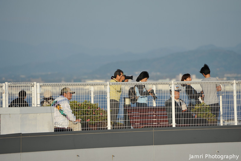 A Group of Plane Watchers.