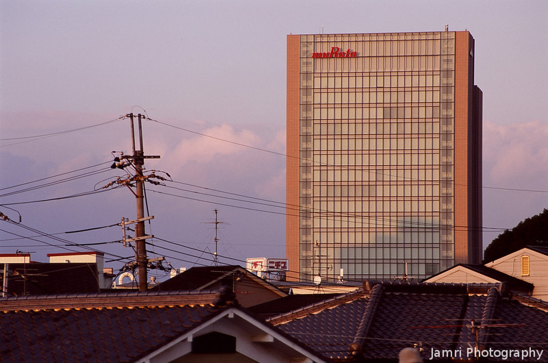 Murata Tower in Afternoon Light.<br /> Note Film Shot: Nikon F80 + Nikkor AF-S 70-300 f/4.5-5.6 VR + Fujichrome Velvia 50