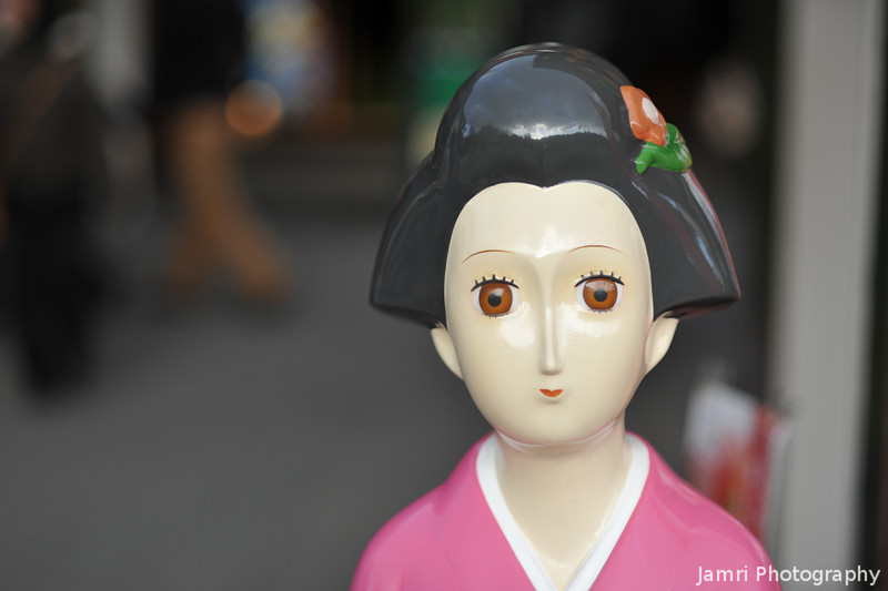 Porcelain Lady.<br /> Outside a souvenir shop in Arashiyama, Kyoto.