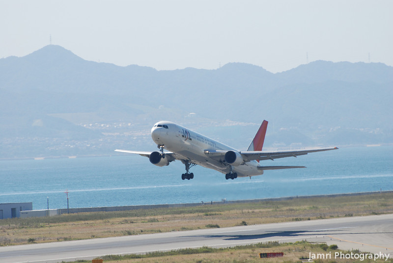 JAL Spreading Wings.<br /> At Kansai Airport.