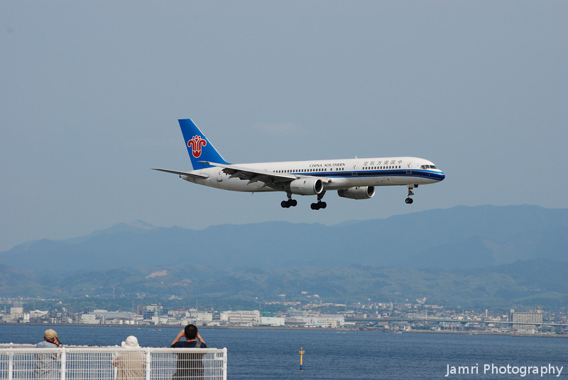 Photographing the Planes.<br /> At Kansai Airport.