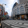 A very wide cross-walk.<br /> In Nanba, Osaka.