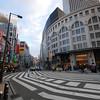 A very wide cross-walk.<br /> In Nanba, Osaka.