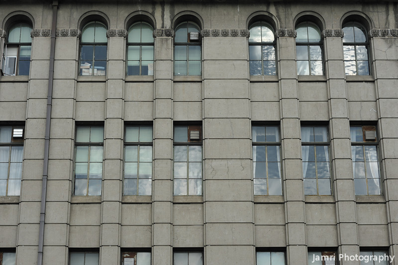 The windows of Kyoto City Hall.
