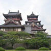 A parting shot of the two towers.<br /> Of Fushimi-Momoyama-jo (Fushimi-Momoyama Castle).