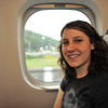 Melissa on the Shinkansen (Bullet Train).