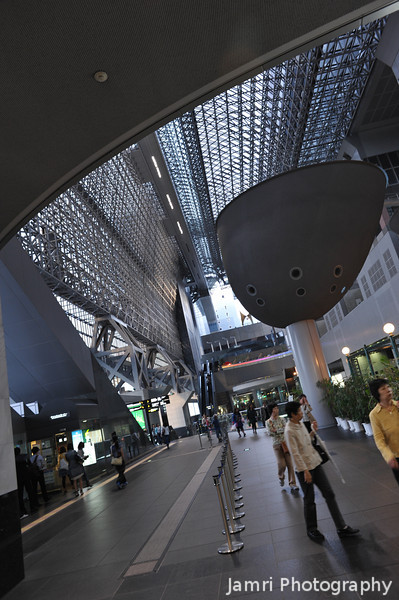 Towards the Main Concourse.<br /> At Kyoto Station.