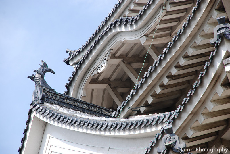 Detail of the Architecture of Himeji Castle.