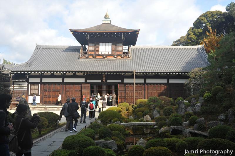 A Temple Building and Garden.<br /> At Tofuku-ji, Higashiyama, Kyoto.