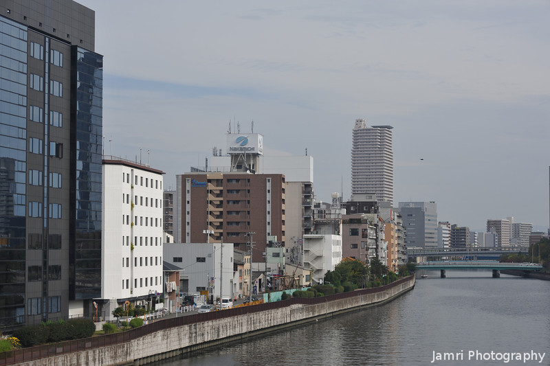 Along the River.<br /> Between Osaka Castle and Tenmabashi Station.