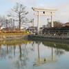 The outer gate.<br /> Of Nagaoka Tenmangu Shrine, Nagaokakyo, Kyoto-fu, Japan.