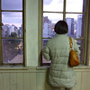 Ritz Taking in the Evening View of Kyoto.<br /> On the first Sunday Dave was with us, Me, Ritz, Dave, Mitz, Rieko and Koji went to Kyoto for the afternoon/evening. One of the things we did was go to a really cool audio/visual arts exhibition set in an old school building in the heart of the city.