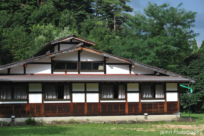 Another view of the 300 year old building.<br /> It was moved here from another location in Gifu prefecture and reassembled with some new bits about 20 years ago.