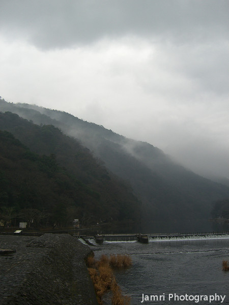 Towards the Misty Mountains.<br /> In Arashiyama, Kyoto on a wild winters day.