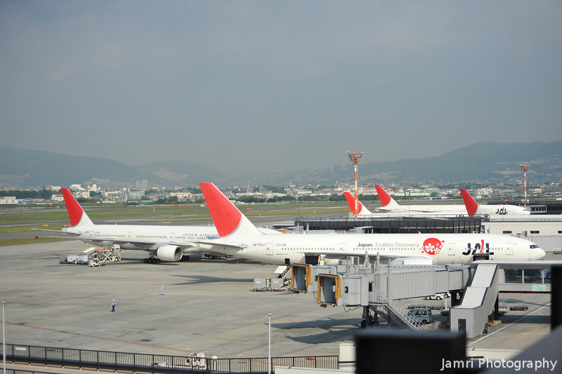 The JAL Section.<br /> At Osaka Itami Airport.