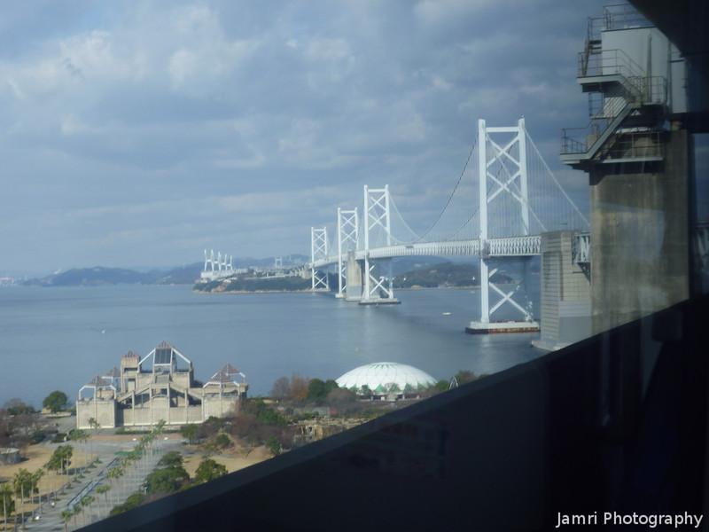 "About to cross the Seto Ohashi. <A href=""http://en.wikipedia.org/wiki/Great_Seto_Bridge"">The Great Seto Bridge.</A> On our return journey from Matsuyama."