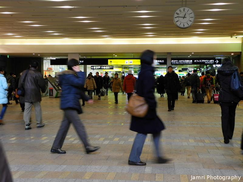Inside Sapporo Station.