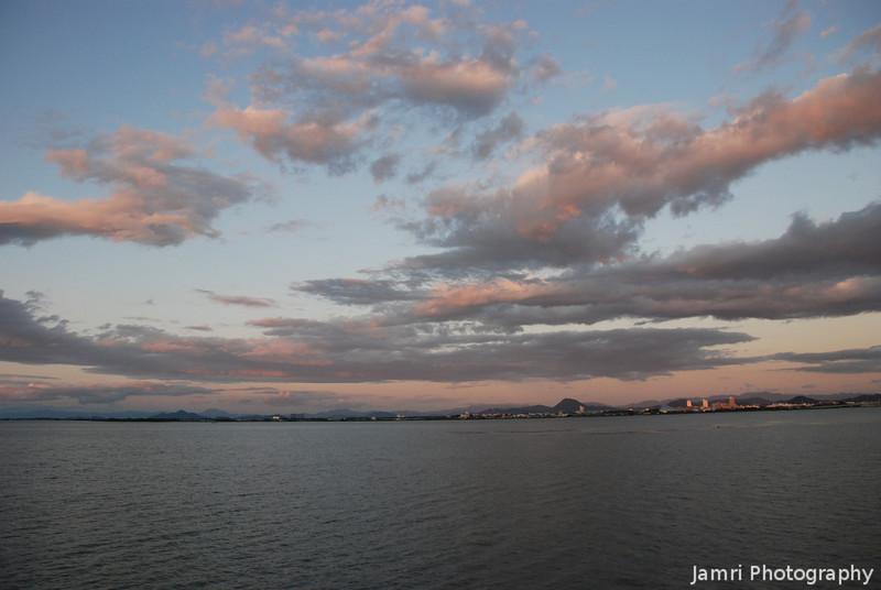 Clouds over Lake Biwa.