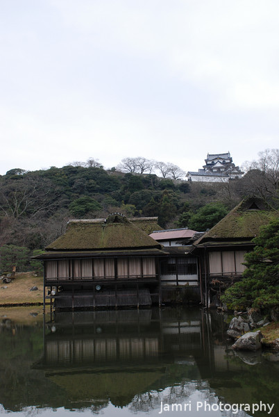 A view of the Castle from the Garden.<br /> In Hikone, Shiga Prefecture.