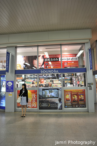 Waiting.<br /> A girl starts outside Sound 1st in Hankyu Umeda Station waiting to meet a friend.