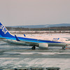 An ANA (All Nippon Airways) 737-781.<br /> At Sapporo's New Chitose Airport.<br /> Rego: JA08AN