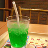 Mellon Soda.<br /> Stopping for dinner at MOS Burger on my 7km walk from Hama-Otsu station to Ishiyama station.