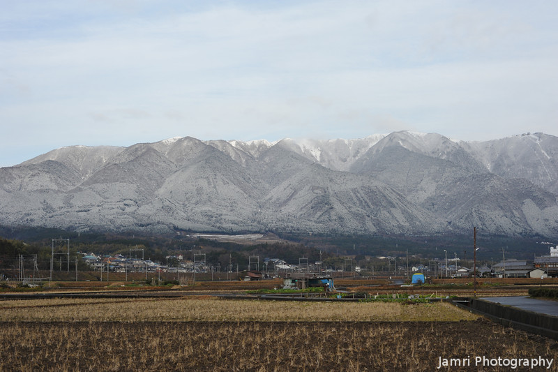 A bit of Sunlight on the mountain.<br /> Mt. Horai.