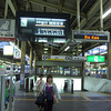 At Tengachaya Station, waiting for the third train.<br /> Taken on my way to Kansai Airport to meet my sister.